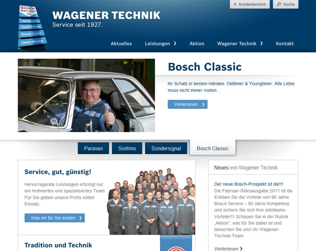 Website Wagener Technik GmbH, Kassel
